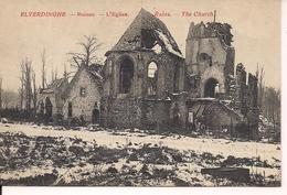 ELVERDINGE ELVERDINGHE RUINES  L'EGLISE - Weltkrieg 1914-18