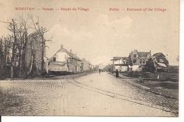 WOESTEN RUINES ENTREE DU VILLAGE - Weltkrieg 1914-18