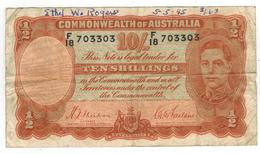 Australia 10 Shill. 1939. F+. Graf. - 1938-52