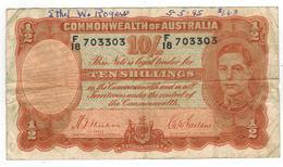 Australia 10 Shill. 1939. F+. Graf. - Pre-decimal Government Issues 1913-1965