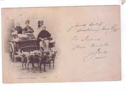 BELGIQUE Laiterie Avec Charrette Attelage De Chiens 1898 - Belgique