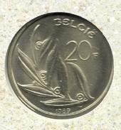 20 Frank 1989 Vlaams * F D C Uit Muntenset - 07. 20 Francs