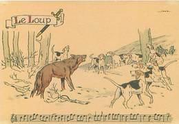 Illustrateur Barré Et Dayez 1429 V - Sonneries De Trompes  Le Loup Chasse Signé Jack Y 85 - Autres Illustrateurs