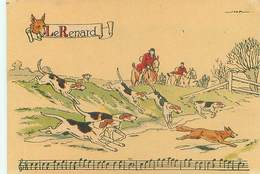 Illustrateur Barré Et Dayez 1429 U - Sonneries De Trompes  Le Renard Chasse Signé Jack Y 86 - Illustrateurs & Photographes