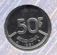 50 Frank 1991 Frans * F D C * BOUDEWIJN * - 08. 50 Francos