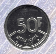 50 Frank 1991 Frans * F D C * BOUDEWIJN * - 1951-1993: Baudouin I