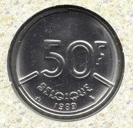 50 Frank 1989 Frans * F D C * BOUDEWIJN * - 1951-1993: Baudouin I