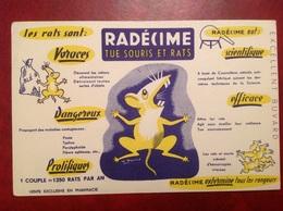 Buvard Publicité Radecime Tue Rat Souris - Animales