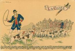 Illustrateur Barré Et Dayez 1429 O - Sonneries De Trompes  La Curée  Chasse Signé Jack Y 87 - Illustrateurs & Photographes