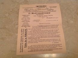 Buvard Lettre Format Double Publicité Manufacture Calendrier Rochefort Paris - Animales
