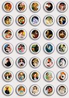 35 X Mary Cassatt Painting Fan ART BADGE BUTTON PIN SET 6 (1inch/25mm Diameter) - Badges