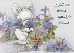 Rabbit - Bunny Having A Lot Of Flowers - Saint-Valentin