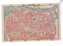 ANTWERPEN ANVERS Carte Plan De La Ville Hotel St Antoine Place Verte - Antwerpen