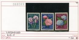 Luxemburg - Luxembourg - Michel  606-608 - ** Mnh Neuf Postfris - Blumen Flowers Fleurs Bloemen - Luxemburg