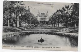 (RECTO / VERSO) MONTE CARLO EN 1909 - N° 720 - LE CASINO ET JARDINS - BEAU TIMBRE DE MONACO - CPA VOYAGEE - Casino