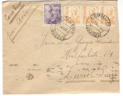 13186 - Avec Censure  Pour La SUISSE - 1931-Aujourd'hui: II. République - ....Juan Carlos I