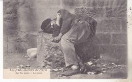 75 Paris - Les P'tits Métiers De Paris. Sur Les Quais, La Sieste.. Datée 1905, TB état. - Lots, Séries, Collections