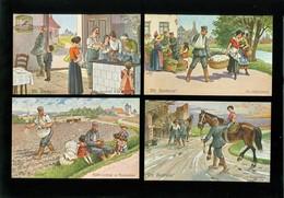 Beau Lot De 20 Cartes Postales De Fantaisie ( Illustrateur Arthur Thiele )  Mooi Lot Van 20 Postkaarten Van Fantasie - Cartes Postales