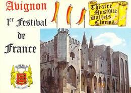 84 ~ AVIGNON ~ 84/61 1er Festival De France Le Palais Des Papes - Avignon