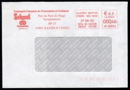 CHOCOLAT - CACAO - COCOA - SCHAAL / 2002 FRANCE EMA SUR ENVELOPPE COMMERCIALE (ref LE3112) - Alimentación