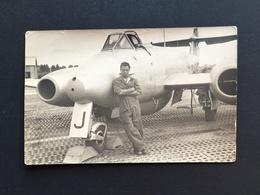 GLOSTER METEOR - Force Aérienne Belge - Avion Militair - Flugzeug - Plane - Carte Photo Originale - 1946-....: Ere Moderne