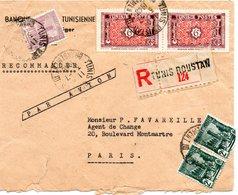 Belle Lettre Recommandée Tunisie Vers France 1948. - Tunesien (1888-1955)