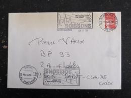 SOISSONS PPAL  - AISNE - FLAMME NOUS PREPARONS AN 2000 SUR MARIANNE LUQUET - Marcophilie (Lettres)