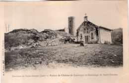 ENVIRONS DE SAINT AMOUR RUINES DU CHATEAU DE LAUBESPIN ET HERMITAGE DE SAINT GARADOZ PRECURSEUR - Francia
