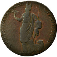 Monnaie, Grande-Bretagne, Yorkshire, Halfpenny Token, 1791, Leeds, TB, Cuivre - Monnaies Régionales