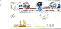 Enveloppe Premier Jour TAAF Tryptique Année Polaire. 1983. - Covers & Documents