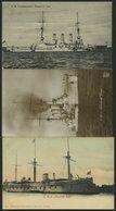 ALTE POSTKARTEN - SCHIFFE KAISERL. MARINE BIS 1918 S.M.S. Friedrich Carl, 3 Ungebrauchte Karten - Oorlog