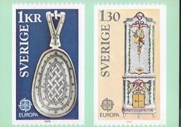 SVERIGE - EUROPA 1976 -NUOVA - Francobolli (rappresentazioni)