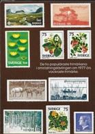 SVERIGE -  I DIECI MIGLIORI FRANCOBOLLI 1977 - NUOVA - Francobolli (rappresentazioni)