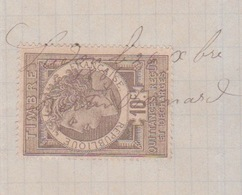 TIMBRE FISCAL QUITTANCES 1885 -  RECU  DE M. ALEXANDRE DELAUBE A LUDON MEDOC POUR COMMISSION DE VIN - Fiscaux