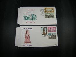"""BELG.1974 1718 1719 1720 1721 & 1722 FDC Braine """"Historische Uitgifte/ Emission Historique"""" - FDC"""