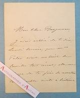 L.A.S 1869 Alexandre CABANEL Célèbre Peintre Né à Montpellier à William BOUGUEREAU - Vénitiens Paton - Lettre Autographe - Autographes