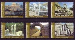 UNO WIEN MI-NR. 422-427 ** KULTUR- Und NATURERBE Der MENSCHHEIT GRIECHENLAND 2004 - Wien - Internationales Zentrum