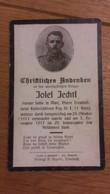Sterbebild Wk1 Ww1 Bidprentje Avis Décès Deathcard KUK Kaiserschützen Regt 1 26. Oktober 1917 Verwundet Aus Matt Treubac - 1914-18