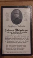 Sterbebild Wk1 Ww1 Bidprentje Avis Décès Deathcard KUK IR14 LINZ 3. Juli 1915 Aus Oberstrass Gotthard - 1914-18