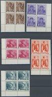RUMÄNIEN 509-15  VB **, 1936, Trachten In Eckrandviererblocks, Postfrischer Prachtsatz, Mi. 80.- - Rumänien