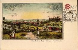 Lithographie Bielefeld In Nordrhein Westfalen, Stadtpanorama Aus Dem Jahre 1830 - Germania