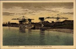 Cp Hamborn Alsum Duisburg Nordrhein Westfalen, Blick Auf Rhein Krananlagen Der August Thyssen Hütte - Berufe