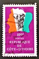 DRAPEAU 1981 - OBLITERE - YT 590 - MI 693 - Côte D'Ivoire (1960-...)