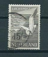 1951 Netherlands 15 Gulden,Zeemeeuw Luchtpost Used/gebruikt/oblitere - Airmail