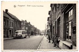 PLOEGSTEERT BIZET 1946 Frontière Franco Belge Autocar Café Central Coin Rue Armentières & Touquet Animé Comines Warneton - Komen-Waasten