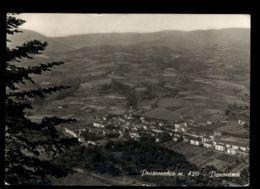 B9789 PRATOVECCHIO (AREZZO) - PANORAMA DALL'AEREO B\N VG 1965 - Autres Villes