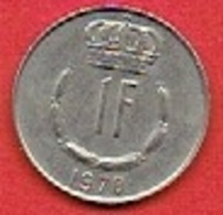 LUXEMBOURG  # 1 FRANC  FROM 1970 - Luxembourg