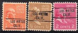 USA Precancel Vorausentwertung Preo, Locals California, Los Nietos 748, 3 Diff. - Vereinigte Staaten