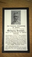 Sterbebild Wk1 Ww1 Bidprentje Avis Décès Deathcard KUK Regiment 3 SCHNEELAWINE Sanitäter ZIANO FLEIMSTAL TIROL - 1914-18