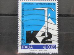 *ITALIA* USATI 2004 - 50° CONQUISTA K2 - SASSONE 2772 - LUSSO/FIOR DI STAMPA - 6. 1946-.. Repubblica